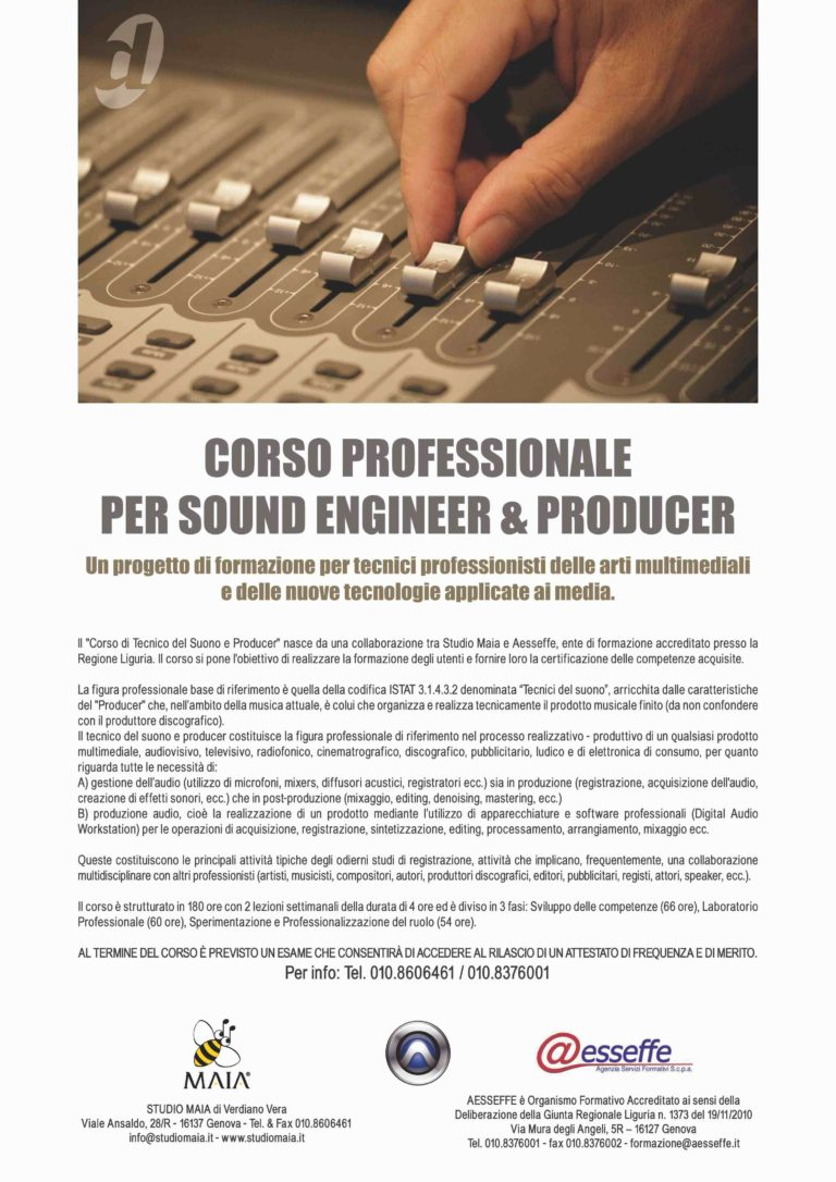 01/11 Corsi Professionali per Sound Engineer & Producer (2011)