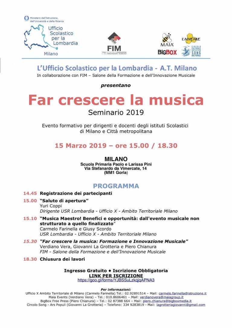 03/19 Far crescere la Musica - Milano