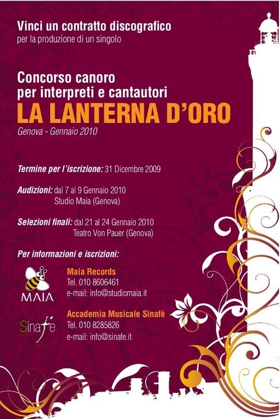 01/10 La Lanterna D'oro - Selezioni 2010